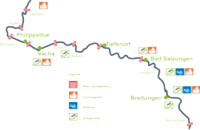 Flusskarte Werra